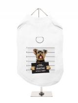 ''Police Mugshot - Yorkshire Terrier'' Harness-Lined Dog T-Shirt
