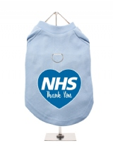 ''NHS: Thank You Heart'' Harness-Lined Dog T-Shirt